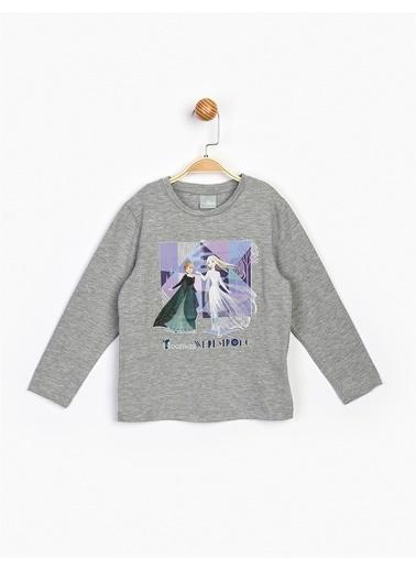 Frozen  Uzun Kol Çocuk Tişört 17226 Gri